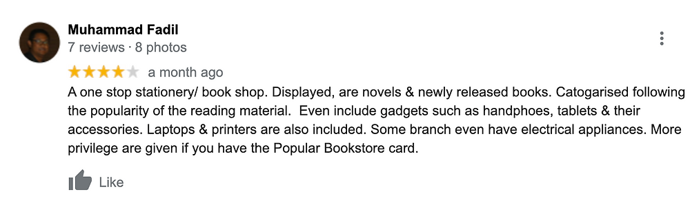 review of popular bookstore on their electronics and membership cards