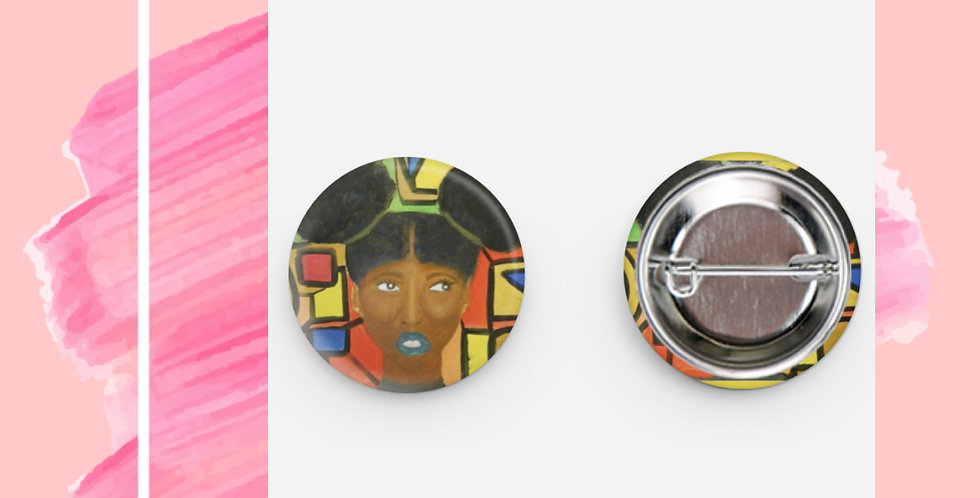 Black Girl With Creative Vision (Round Pin)