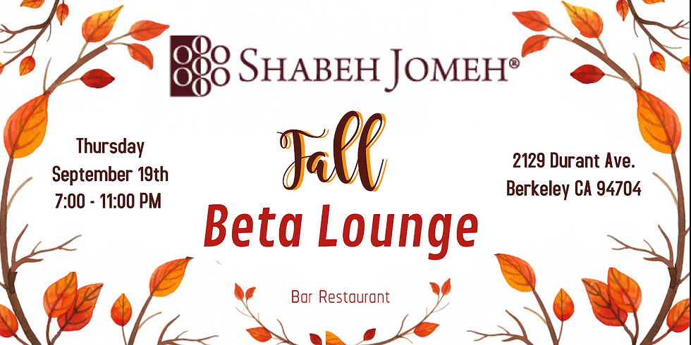 Shabeh Jomeh Bay Area Fall Special