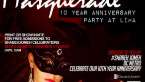 Shabeh Jomeh DC Metro Marks its 10th Anniversary with its First Annual Halloween Party