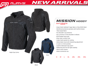 RJAYS Mission Hoody: Brand New for 2021!