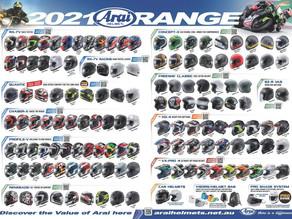 The Arai helmets range in Australia just keeps getting better!