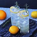 Meyer Lemon and Rosemary Tom Collins
