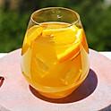 Peach-Basil Sangria