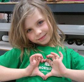 Child hand heart
