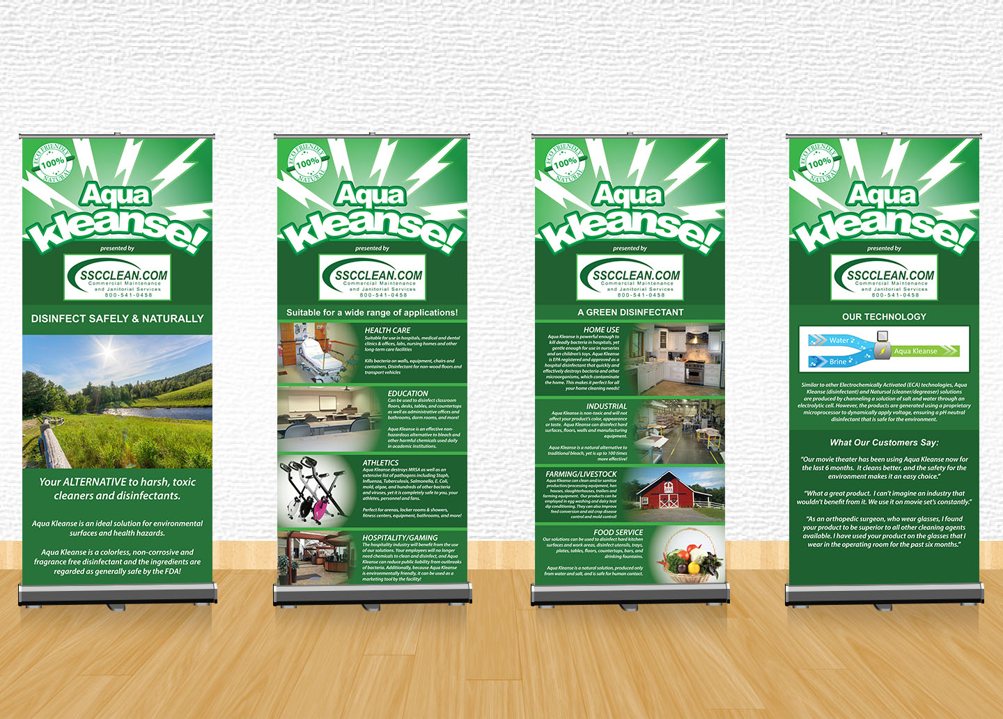 Aqua Kleanse Display Banners