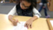 Child school work
