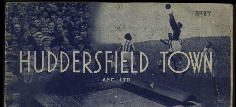 Front page from a Huddersfield Town matchday programme (Saturday 8th October, 1938 vs Aston Villa). Copyright resides with Huddersfield Town. Image reproduced for the Huddersfield Town Heritage Project.