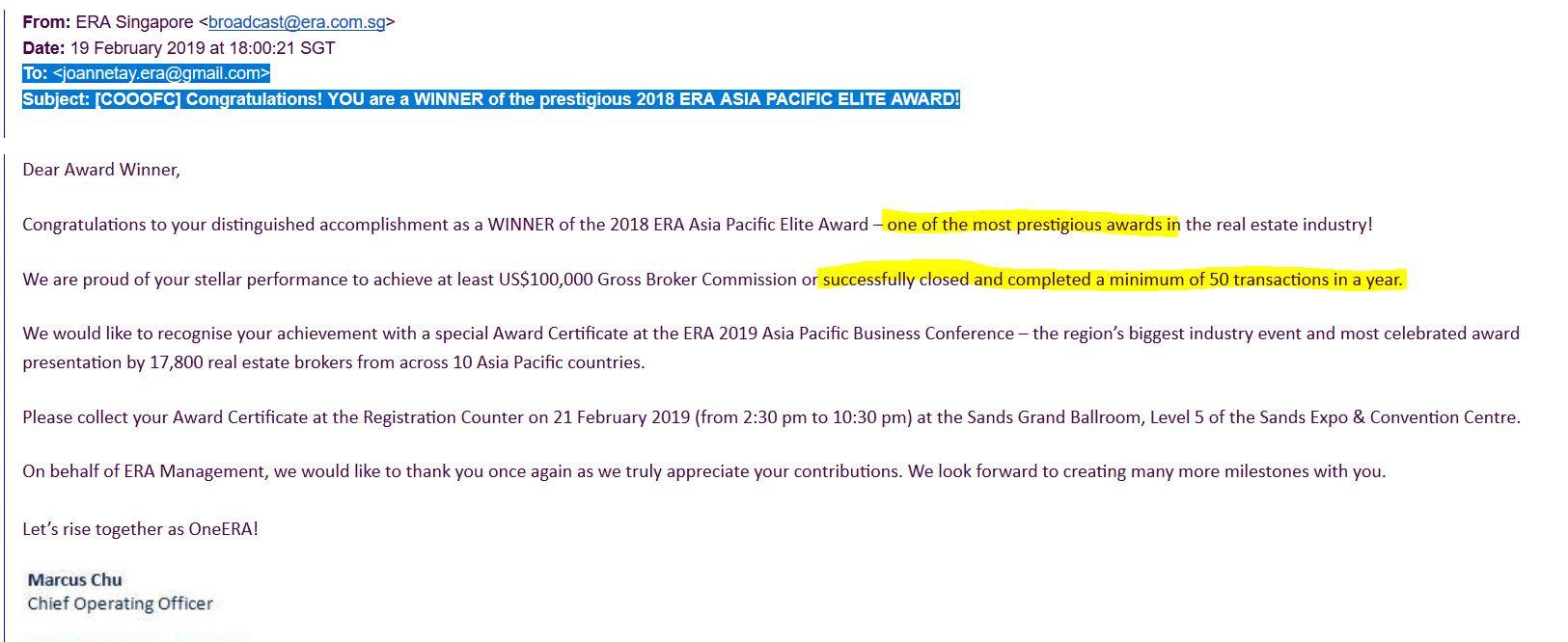 joanne Elite award.JPG
