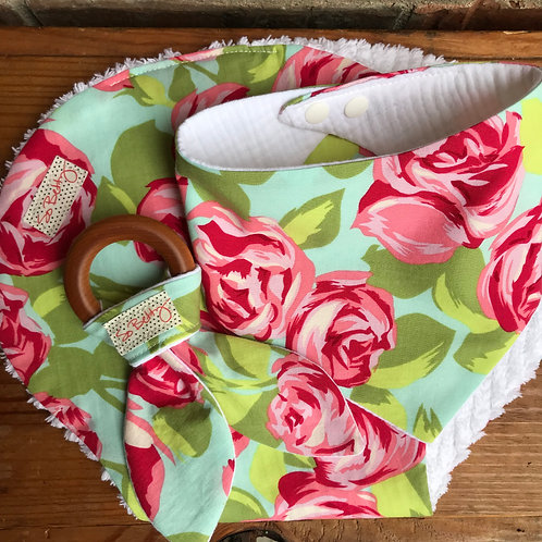 Baby Gift Set in Tumble Rose