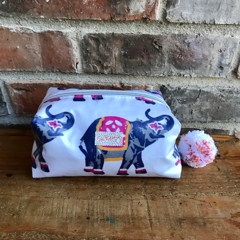Elephants Marching Makeup Bag