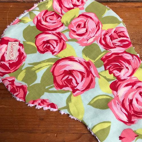 Tumble Rose Burp Cloth