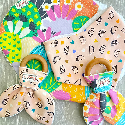 Baby Gift Set in Tacos and Cacti