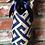 Thumbnail: Greek Key Stamped Burlap Wine Sleeve
