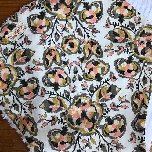 Harvest Foxtails Burp Cloth