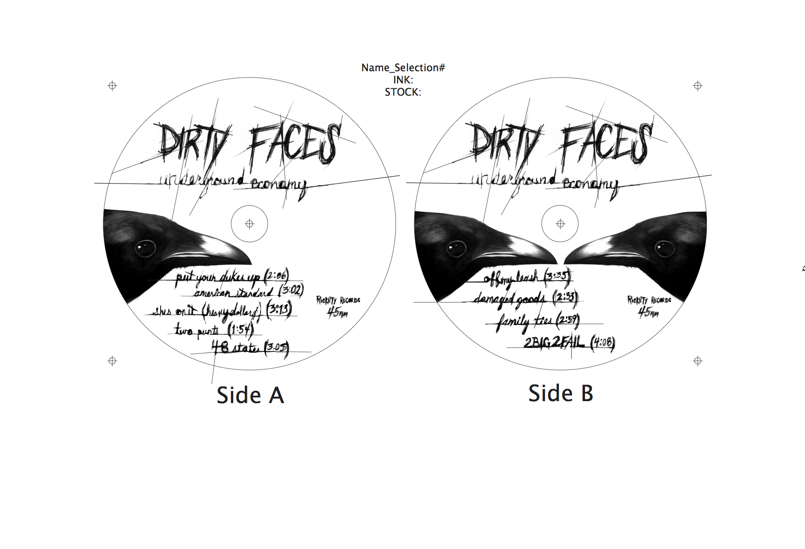 Labels for 12 inch vinyl