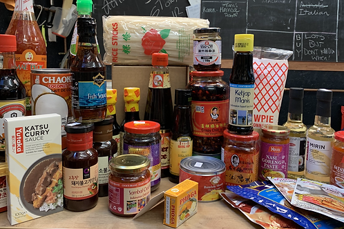 BIG box of fun Asian cooking stuff  - Click and Collect only