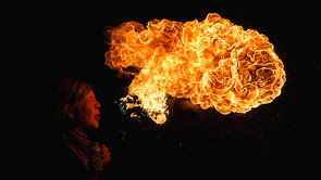 GIRL AND FIRE