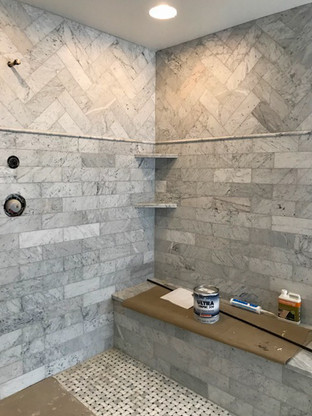 Shower Bathroom Remodel in Lake Bluff Illinois by Balsitis Contracting