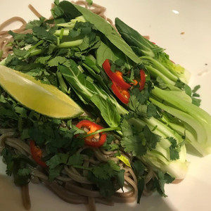 Asian style vegetables for noodle soup