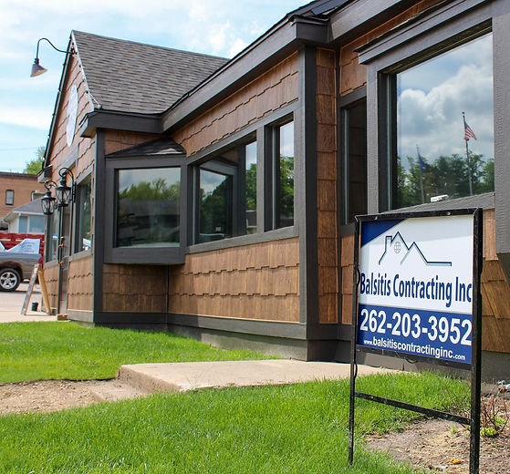 Commercial building in Williams Bay Wisconsin remodeled by Balsitis Contracting