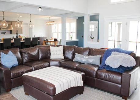 Living Room in custom home built in Wheatland Wisconsin