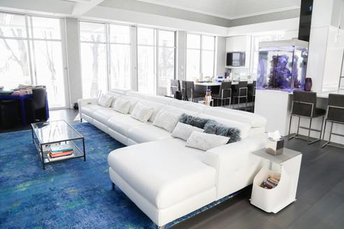 Living room in Lake Geneva