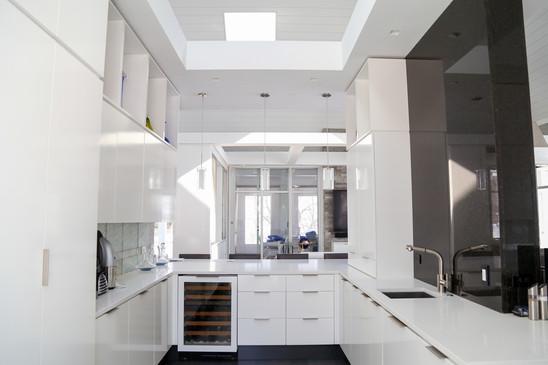 White custom kitchen in Walworth County