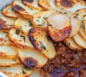 Minced beef hotpot