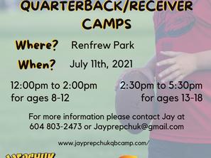 Jay Prepchuk Quarterback/ Receiver Camp