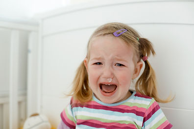 Crying little toddler, having a tantrum