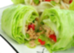 Delicious San Choy Bow with minced chick