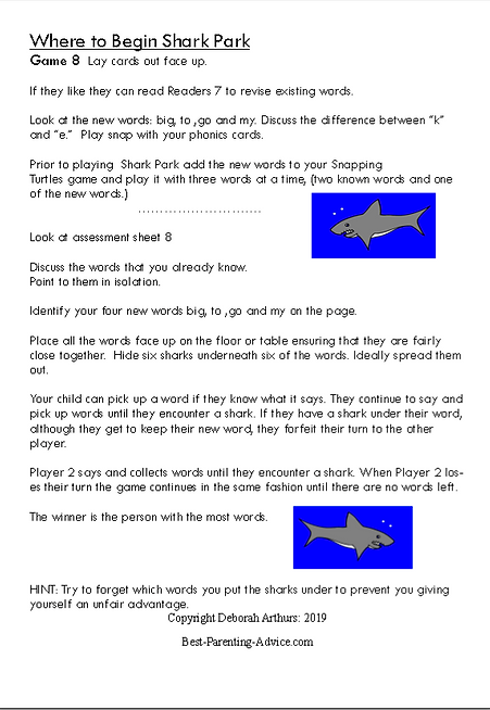 This One Shark Park Directions Page 2 De