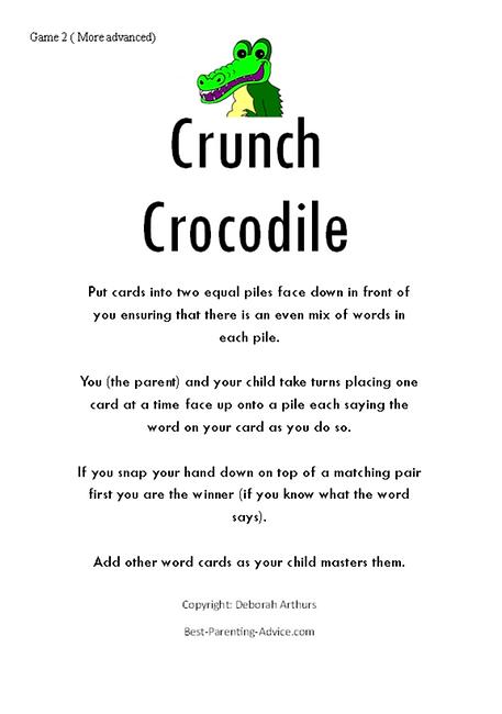 Crunch Crocodile Page 1 correct Debs cop