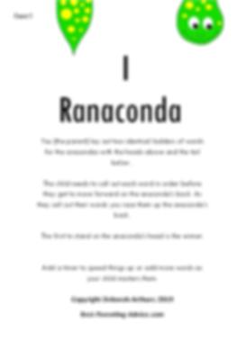 I Ranaconda Directions page 1 debs copyr