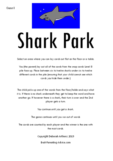 This ONE Shark Park Directions Page 1 De