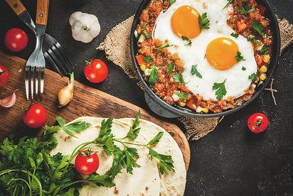 Traditional Mexican dish Huevos ranchero