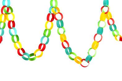 Handmade paper chain guirlande isolated