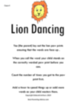 Lion Dancing Directions page 1 debs copy
