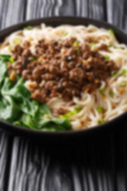 Dan Dan Noodles - Savory and spicy Sichu