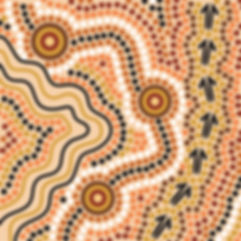 Hand drawn Aboriginal abstract depicting