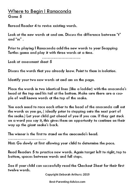 I Ranaconda Directions page 2 debs copyr