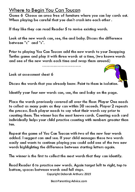 SLevel 6 directions page 2 you can touca