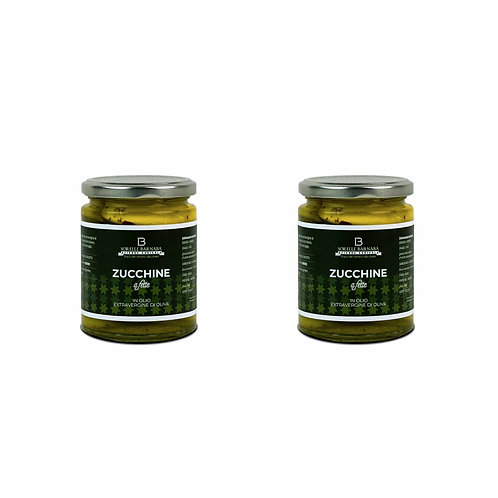 Zucchini in Extra Virgin Olive Oil - Sorelle Barnaba