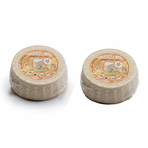 Seasoned Gondino - Organic cheese block - Pangea Italian vegan foods