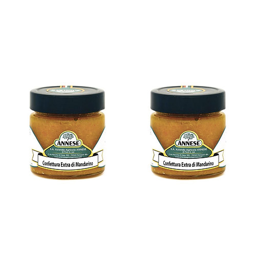 Box of 2x 250g handcrafted tangerine jam from Apulia, south Italy shop online aperitif appetizer soft fresh cheese tasting
