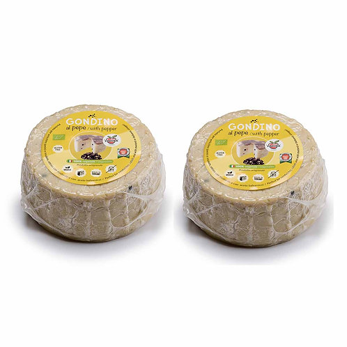 Gondino W/ Peppercorns - Organic cheese block- Pangea Italian vegan foods