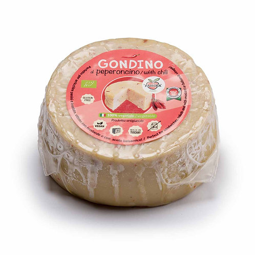 Gondino W/ Chilli flakes - Organic cheese block - Pangea vegan foods