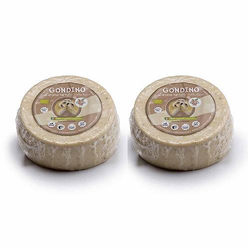 Gondino with White Truffle & Mushrooms Organic vegan cheese Pangea Italian vegan food company