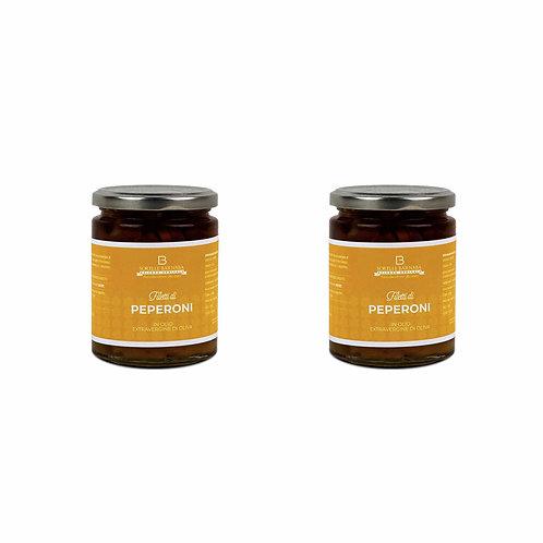 Pepper strips in Extra Virgin Olive Oil - Sorelle Barnaba
